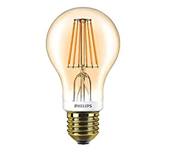 Fabulous Philips LED Filament, Vintage-Leuchtmittel Classic, dimmbar, gold FG76