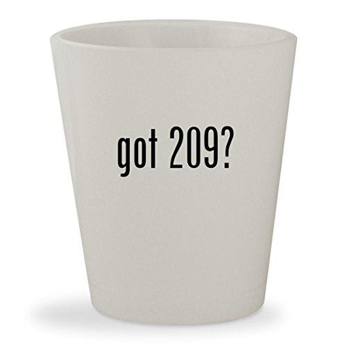 got 209? - White Ceramic 1.5oz Shot Glass