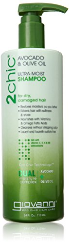 GIOVANNI COSMETICS Ultra-Moist Shampoo, Avocado/Olive Oil, 24 Fluid Ounce