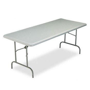 le TOO 1200 Series Resin Folding Table, 72w x 30d x 29h, Charcoal - BMC-ICE 65227 (Series Rectangular Worksurfaces)