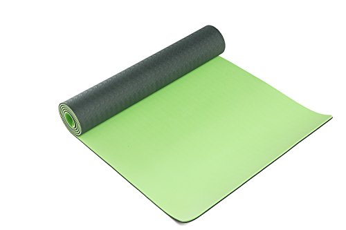 Bsm Two Layer Tpe Premium Yoga Mat Exercise Mat With Carry