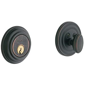 Baldwin Estate 8231.112 Low Profile Traditional Single Cylinder Deadbolt in Venetian Bronze
