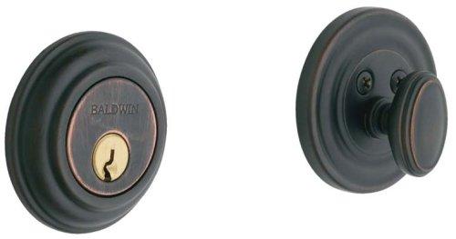 Baldwin Estate 8231.112 Low Profile Traditional Single Cylinder Deadbolt in Venetian ()