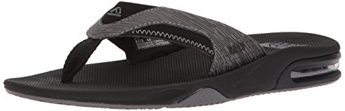 Reef Men's Fanning Prints Sandal, Black Lines, 11 M US