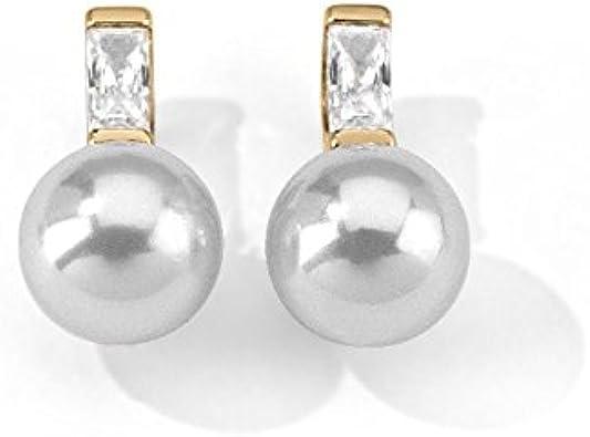 Majorica Tu Y Yo 12264.01.1.000.010.1 - Pendientes de Plata con Perla con Cierre de Mariposa a presión