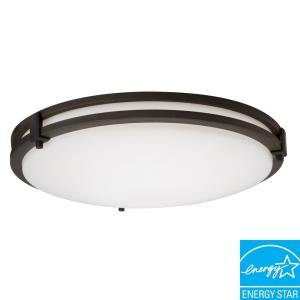 - Lithonia Lighting 3950 BZ M4 1 Lamp 26W Compact Fluorescent Flush Mount, Bronze