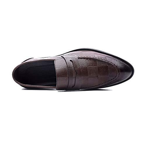 Scarpe Guida Moda NXY Marrone su Mocassini Uomo da Scivolare Pelle Casuale Piatto xwSU8Ap