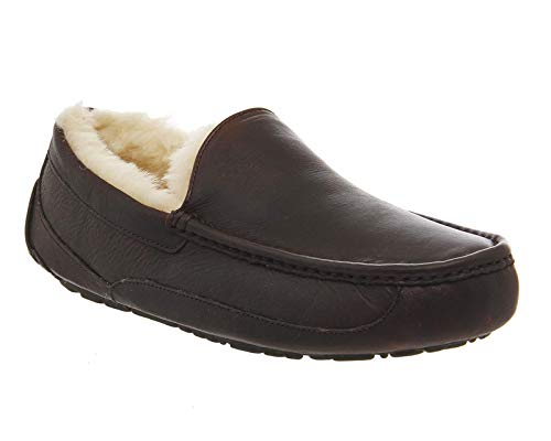 UGG Men's Ascot Slipper, China Tea Leather, 11 M US