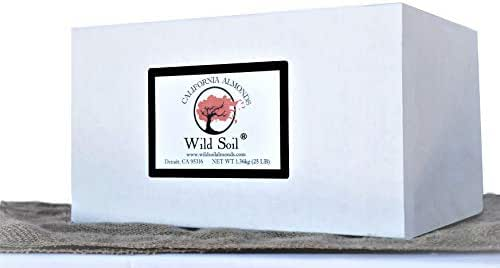Wild Soil Almonds - Distinct and Superior to Organic, Herbicide Free, Steam Pasteurized, Probiotic, Raw 25LB Box