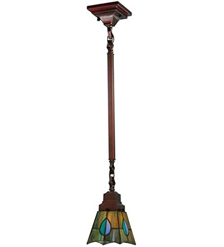 - Meyda Tiffany 20059 Lighting 5 sq. in. in, Finish Aqua/Green Purple/Blue