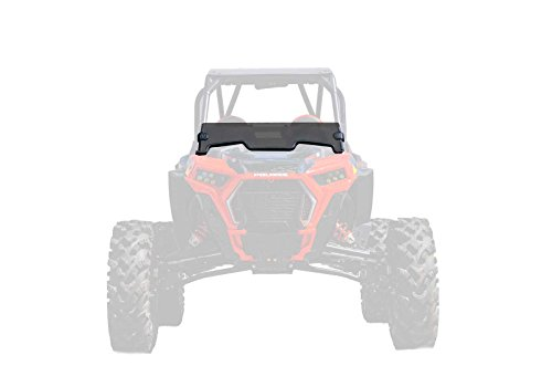 SuperATV Heavy Duty Dark Tint Non-Scratch Resistant Half Windshield for Polaris RZR XP Turbo/XP 4 Turbo (2019+) - 250X Stronger Than Glass - Installs in 5 Minutes! ()
