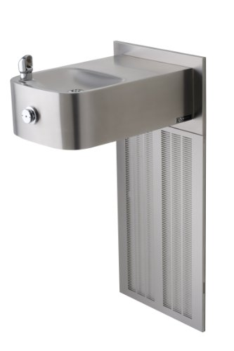 (Haws H1109.8 Stainless Steel Barrier-Free Wall Mounted Satin Finish Electric Water Cooler (Chiller and Mounting Frame Not Included))