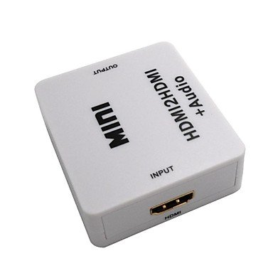HDMI to HDMI+Audio Adapter Box HD HDMI Adapter With Power