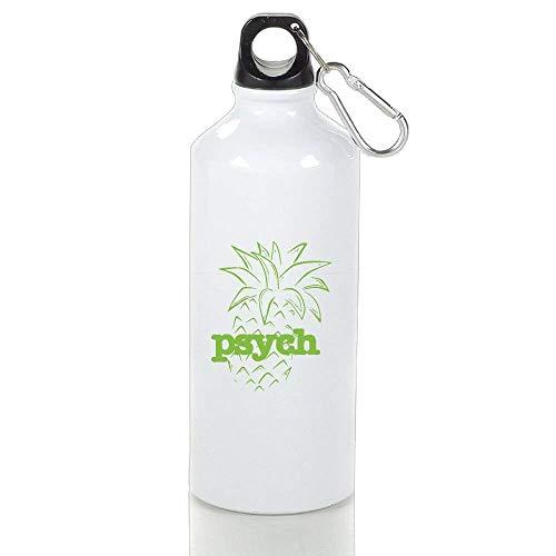 BELLM Mountain Bike Aluminum Water Bottle Psych Pineapple Sport Bottle 17 Oz(2.96.2 in)