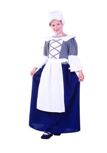 [Child MED (8-10)- Deluxe Colonial Peasant Girl] (Deluxe Colonial Peasant Girl Child Costumes)