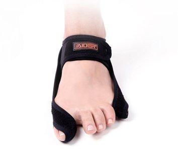 Aider Bunion Support, Comprehensive Bunion Corrector & Bunion Relief ToePal kit-5 Piece Hallux Valgus & Bunion Pads, Toe Spacers, Toe Separators, Bunion Splint, Toe Straightener (Left (black)) by Aider (Image #8)
