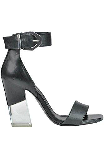VIC MATIÉ Women's MCGLCAT03137E Black Leather Sandals 0f9Ak
