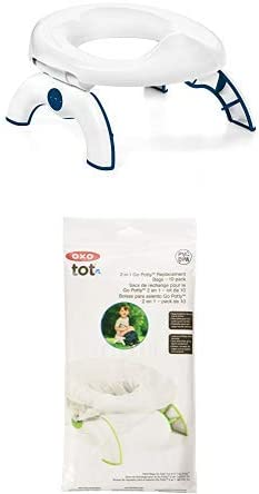 Pack of 10 Bags OXO Tot 2-in-1 Go Potty for Travel with Replacement Bags