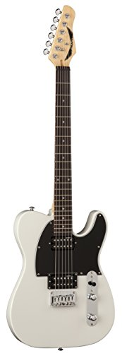 Dean NV CWH NashVegas Hum Hum Solid-Body Electric Guitar, Vintage White