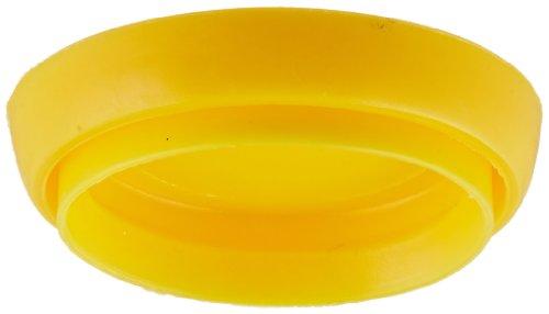 Kimble 28150R-6 Polyethylene Snap Cap for Volumetric Flasks, Yellow, 6 Cap Size (Case of 6)
