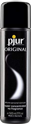 pjur ORIGINAL - Lubricante de silicona Premium - lubricacion duradera sin pegarse - cunde mucho, adecuado para preservativos (500ml)