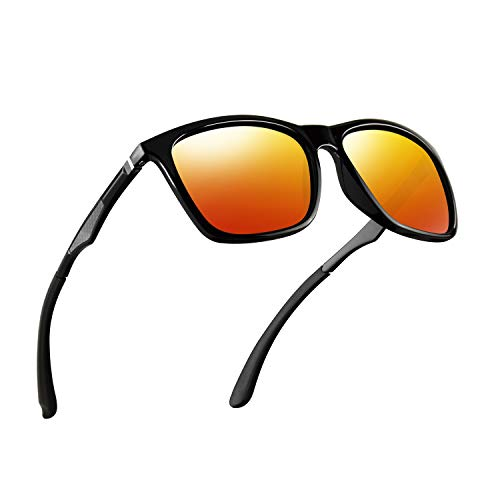 Polarized Sunglasses for Men Aluminum Mens Sunglasses Driving Rectangular Sun Glasses For ()