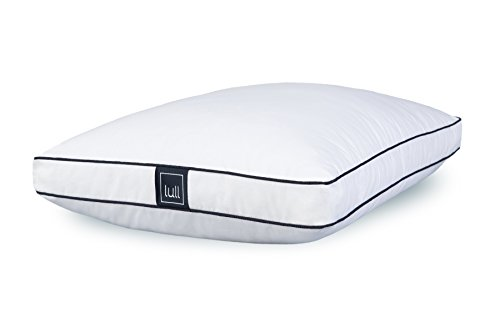 Lull - Microfiber Pillow | Machine Washable & Hypoallergenic Pillow w/Adaptive Fibers for Neck & Spine Support, 100 Night Trial (King)