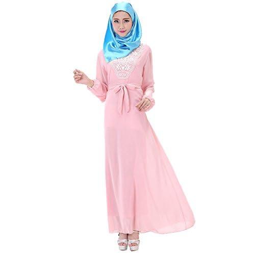 6254f3d15296 60%OFF GladThink Women s Plus Size Muslim Chiffon Kaftan Islamic Maxi Dress