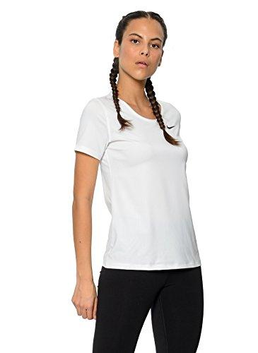 Training Short Sleeve Top (NIKE Pro Women's Short-Sleeve Training Top (White/Black, S))