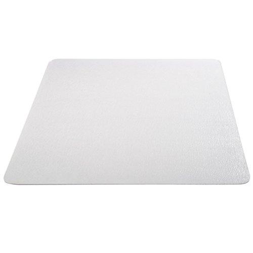 Deflecto EconoMat Clear Chair Mat, Hard Floor Use, Rectangle, Straight Edge, 46