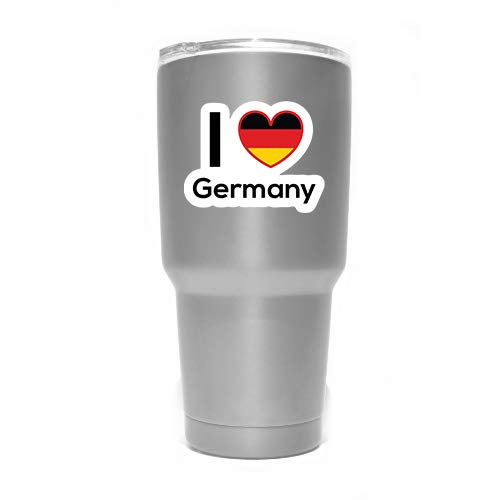 Two 3 Inch Decals MKS0168 Love Germany Flag Decal Sticker Home Pride Travel Car Truck Van Bumper Window Laptop Cup Wall