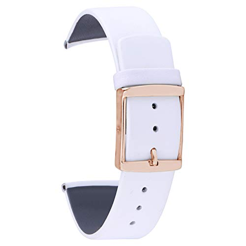 20mm Calf Leather Watch Strap Band Matte Finish Replacement