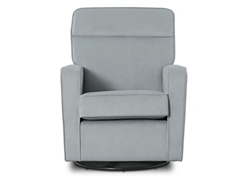 Delta Children Willow Glider Swivel Rocker Chair Featuring LiveSmart Fabric by Culp, Mist Grey Blue