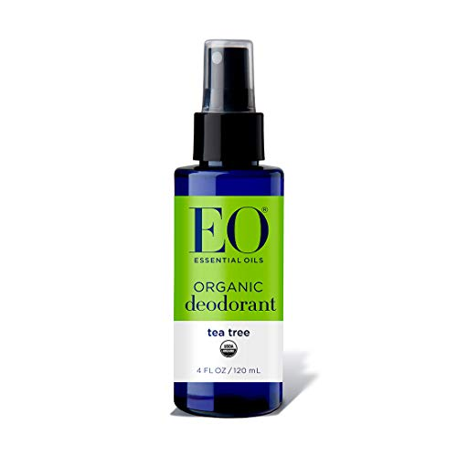 EO Organic Deodorant Spray, All Day Chill, Tea Tree, 4 Ounce (Pack of ()