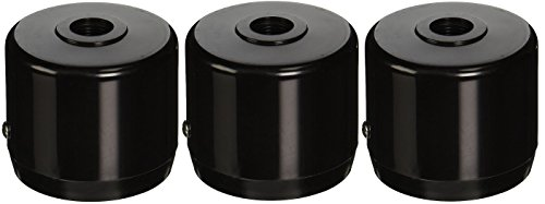 "RAB Lighting MCAP3B Mighty Post Cap for 3"" Pipe, 2-7/8"" OD, Black (Pack of 3)"