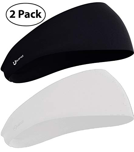 Self Pro Mens Headbands 2-Pack Guys Sweatband & Sports Headband for Running, Crossfit, Working Out - Performance Stretch & Moisture Wicking