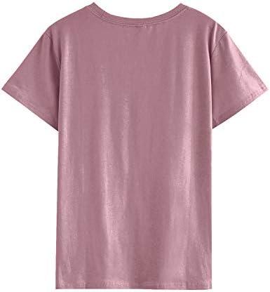 YUHX Mom of Boys koszulka damska z krÓtkim rękawem, okrągły dekolt, z nadrukiem, na lato, na Dzień Matki.: Odzież
