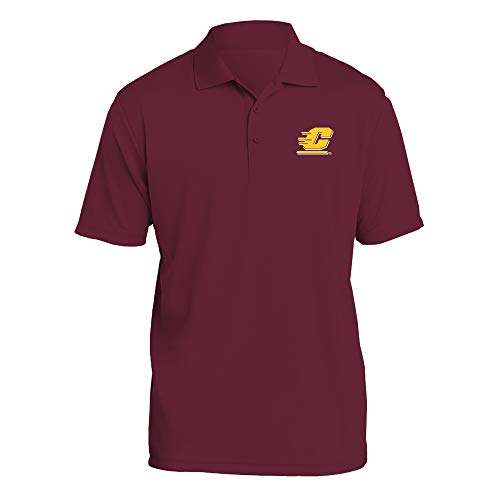 Great Playoff Games 10 - AP07 - Central Michigan Chippewas Primary Logo LC Polo - Large - Maroon