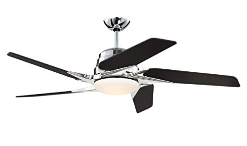 Indoor Ceiling Fans 1 Light Fixtures with Chrome Finish Metal Material LED 15
