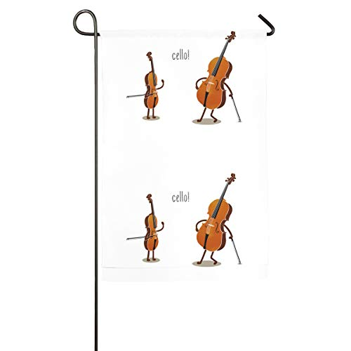Xugui Cello! Garden Flag Vertical One-Sided Printed Flag Competition Flag for Home Decorative