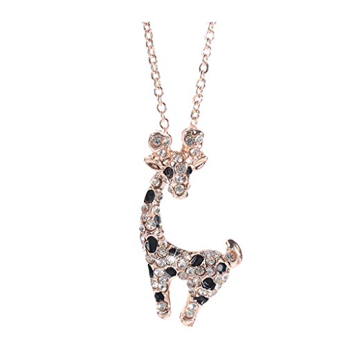 -  Orcbee  _Fashion and Simple Animal Insert Drill Plum Deer Sweater Chain Necklace Women's Jewelry