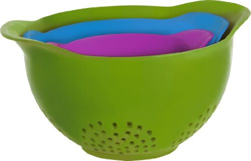 Trudeau 09911077 Colanders (Set of 3), Multicolor
