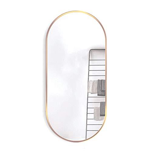 JWZQ Bathroom Wall Mirror, Makeup Mirror, Entrance Mirror, 5MM HD Explosion-Proof Silver -