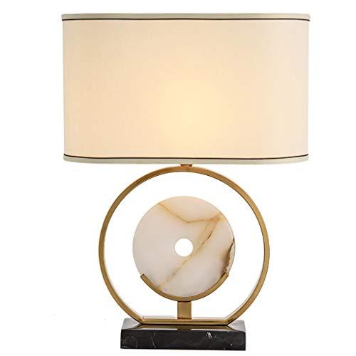 Jade Bronze Urn - HN Lighting Table Lamp,Chinese Jade Table Lamp Nordic Modern Minimalist American Living Room Bedroom Bedside Table Lamp Model Room Decoration Table Lamp, Table Lamp