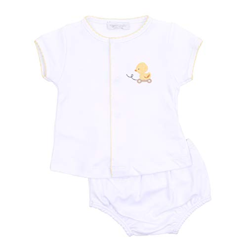 Magnolia Baby Unisex Baby Tiny Ducky Emb Diaper Cover Set Yellow 3 Months