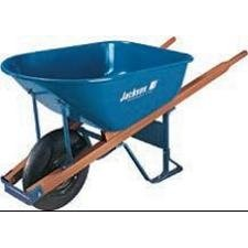 Jackson® Contractors Wheelbarrows - wheelbarrow 6 cu ft steel flat free wheel