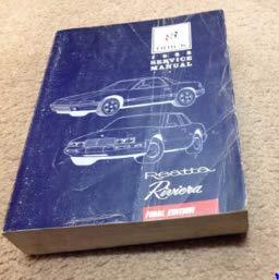 1988 Buick RIviera Reatta Service Shop Repair Workshop Manual Set OEM ()