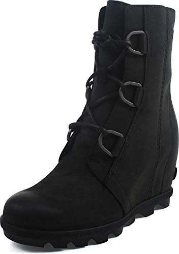 Sorel Women's Joan of Arctic Wedge II Boots, Black, 8 M US
