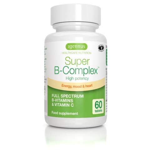 Super B-Complex - Methylated B Complex Vitamins, Folate & Methylcobalamin, Vegan, 60 small tablets