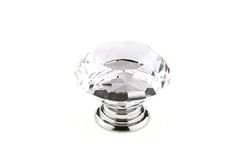 Richelieu Eclectic Metal Knob (Richelieu Hardware - BP87765014011 - Eclectic Crystal Knob - 8776 - Clear Chrome  Finish)